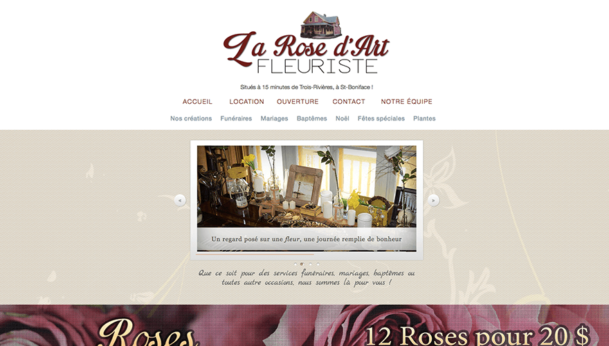 Fleuriste la rose d'art